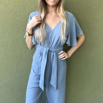 Riverside Jumpsuit- Light Blue