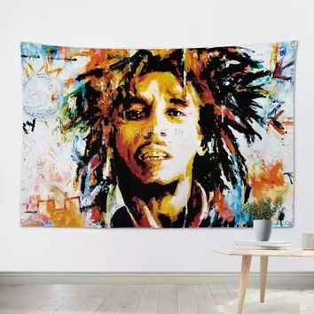 Bob Marley Reggae Heavy Metals Rock Music Banners Hanging Flag Wall Sticker Cafe Theme Hotel Fitting Room Background Decoration