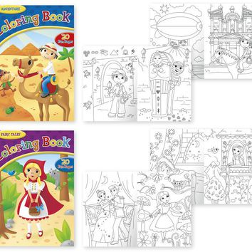 Papercraft Coloring Books - Fairy Tale And Adventu - CASE OF 24