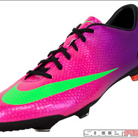 Nike Youth Mercurial Vapor IX FG Soccer Cleats - Fireberry with Electric Green - SoccerPro.com
