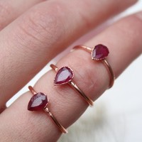 Ruby Facet Ring
