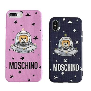 MOSCHINO Newest Popular Lovely Stars Astronauts Mobile Phone Cover Case For iphone 6 6s 6plus 6s-plus 7 7plus 8 8plus X XsMax XR