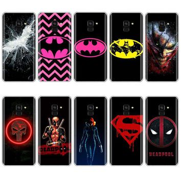 Deadpool Dead pool Taco Marvel symbo Batman  daredevil Punisher Black widow logo Phone Case for SamSung A6 2018 S6 S7 edge S8 S9 Plus A5 J1 Case AT_70_6