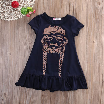 2016 summer style new girls dress dress girls clothes cotton princess little girl pattern dress baby clothes vestidos