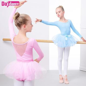 Child Ballet Tutu Pink Slim Dance Clothes Leotard Girls Princess Ballet Dress For Kids