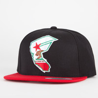 Famous Stars & Straps Ca Reppin Mens Snapback Hat Black/Red One Size For Men 20642012601