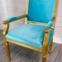 www.roomservicestore.com - Bordeaux Square Louis Chair in Turquoise