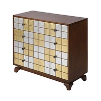 JACOBSON MULTICOLOR (SILVER, GOLD, BROWN) MODERN MULTI COLORED CHEST