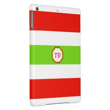 Stripes White Red Green Case For iPad Air