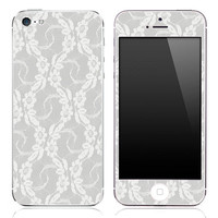 White Lace iPhone 3g/3gs, 4/4s or 5 Skin