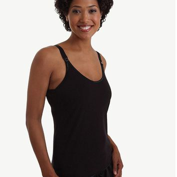 Cami Sutra™ Nursing Tank with built-in bra Black