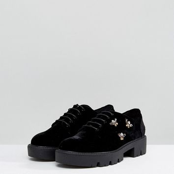 Stradivarius Embellished Chunky Brogues at asos.com