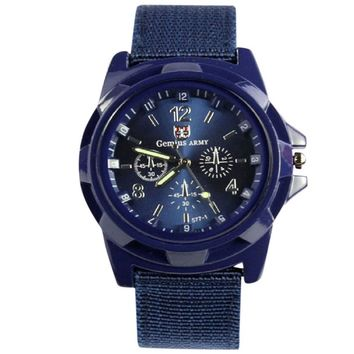 Army Racing Force Sport Fabric Band Watch