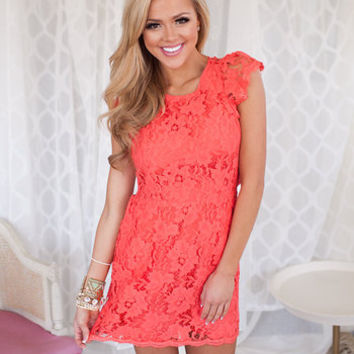 Summer Bridal Dress Coral