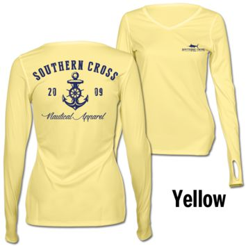 Captain's Nautical Anchor Ladies Performance Gear