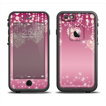 The Pink Sparkly Chandelier Hearts Apple iPhone 6 LifeProof Fre Case Skin Set