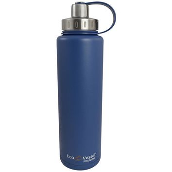 Eco Vessel Bigfoot Triple Insulated Water Bottle Blue 45 oz.