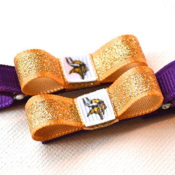 Minnesota Vikings Hair Clips - Toddler Hair Clips - Minnesota Vikings Baby - Minnesota Vikings Stocking Stuffer