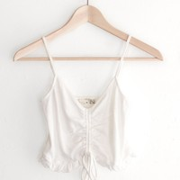 Ruched Drawstring Crop Cami