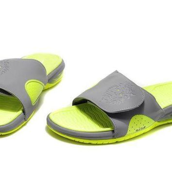 PEAPGE2 Beauty Ticks Nike Air Lebron Slide Green/gray Casual Sandals Slipper Shoes Size Us 7-11