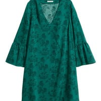 H&M Dress with Trumpet Sleeves $12.99