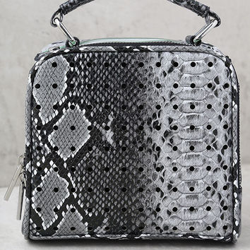 Skinnydip London Holey Grey Snakeskin Purse