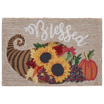 Trans Ocean Frontporch Blessed Area Rug