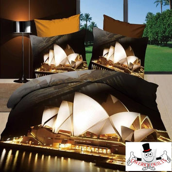 3D Sydney Opera House Bedding Set and Quilt Cover