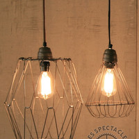 Wire Cage Pendant Lamp Small