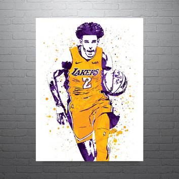 Lonzo Ball Los Angeles Lakers Home Poster