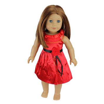 12 Colors American Girl Doll Dress 18 Inch Doll Clothes And Accessories