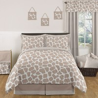 Giraffe Print Full/Queen Bedding 3 Pc Set