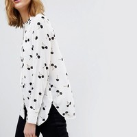Warehouse Cherry Print Blouse at asos.com