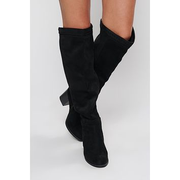 Beautiful Girl Faux Suede Boots (Black)