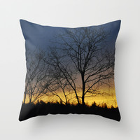 Dreamy sunset Throw Pillow by tamsinlucie