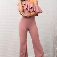 Marcilee Jumpsuit - Dusty Rose