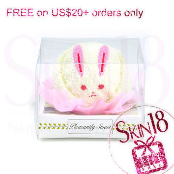 Freebies for US$20+ Order Only - Cute Animal Cake Towel  (Rabbit)