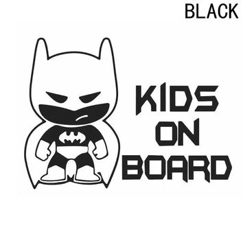 Kids On Board Batman Decal