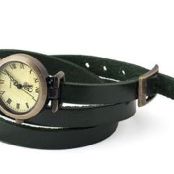 leather wrap watch by collections by hayley | notonthehighstreet.com