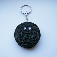 Cute Oreo Keychain by CraftyTeapot on Etsy