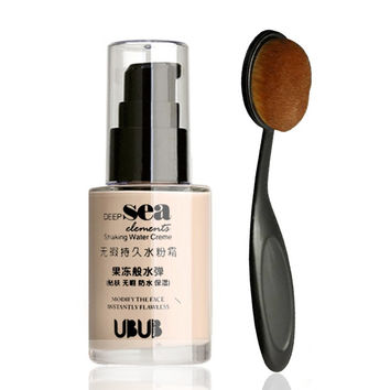 OPENLADY Face Makeup 2 Pcs In Set Makeup Base Face Liquid Foundation BB Cream Concealer + Oval Toothbrush Makeup Brushes by UBUB