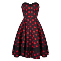 Black and Red Polka Dot Dress