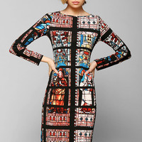 Glamorous Stained Glass Midi Dress - Urban Outfitters