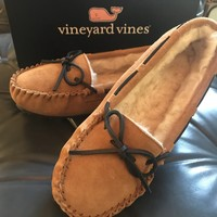 Women's holiday moccasins
