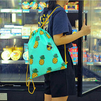Graphic Drawstring Shoulder Bag Backpack