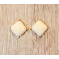 Fair and Square Earrings - Ivory