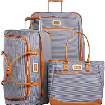 Jessica Simpson Breton Stripe Spinner Luggage