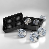 Ice Cube Ball Round Sphere Mold Tray for Drinks