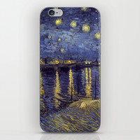 Vincent Van Gogh Starry Night Over The Rhone iPhone & iPod Skin by Art Gallery