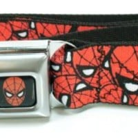 Amazing Spider-Man Stacked Faces Seatbelt Belt (One Size)